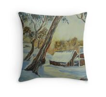 Wallace's Hut, Bogong High Plains Throw Pillow
