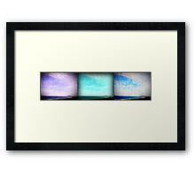 iPhoneography: Gerroa Triptych Framed Print