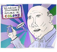 Caricature de Steve BALLMER et le Windows8 Smartphone Poster
