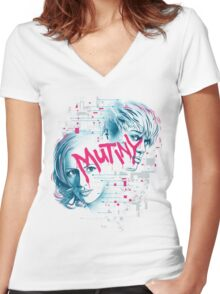 Mutiny Women's Fitted V-Neck T-Shirt