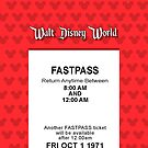 Walt Disney World's Opening Day Fastpass (Red) (iPhone 5 Version) by Rechenmacher