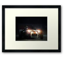 The Stig at Top Gear Live 2012 in a Caterham 7 Framed Print
