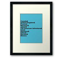 The World Showcase Framed Print
