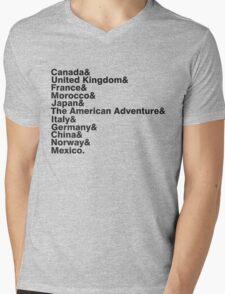 The World Showcase Mens V-Neck T-Shirt