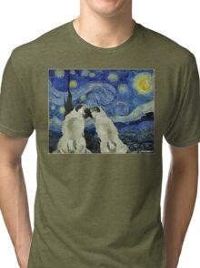 Starry Night Pugs Tri-blend T-Shirt