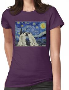 Starry Night Pugs Womens Fitted T-Shirt