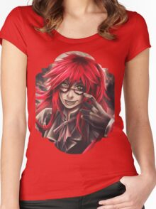 Black Butler: Grell Women's Fitted Scoop T-Shirt