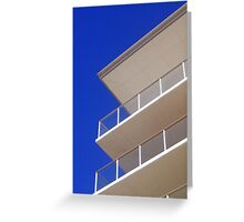 Modern balcony Greeting Card