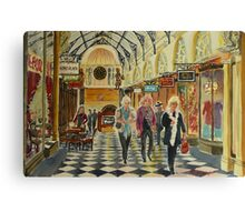 Heading for Coffee, Royal Arcade, Melbourne Canvas Print
