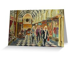 Heading for Coffee, Royal Arcade, Melbourne Greeting Card