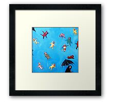 The worst of showers. Framed Print