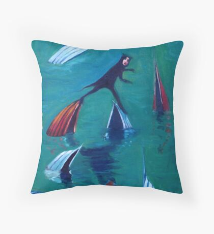 The Boat Skipper Throw Pillow