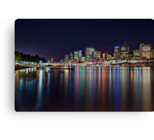 Lights of the City - South Bank, Brisbane NSW Canvas Print