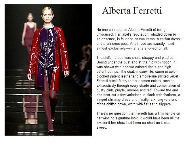 Primodels Review-Alberta Ferretti on ramp by primodels