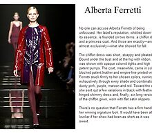 Primodels Review-Alberta Ferretti on ramp by primodels