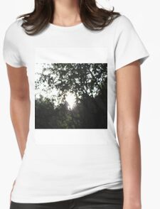 Glistening Trees Womens Fitted T-Shirt