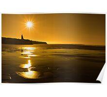 ballybunion sunny golden beach sunset Poster