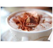 Hot Chocolate with whipped cream Poster