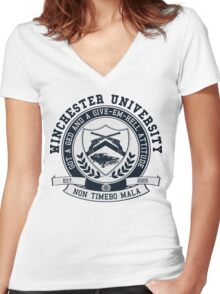 Winchester U Women's Fitted V-Neck T-Shirt