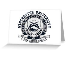 Winchester U Greeting Card