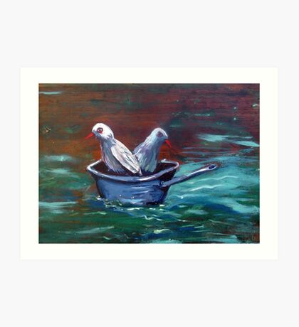 Don't get your feet wet! Art Print