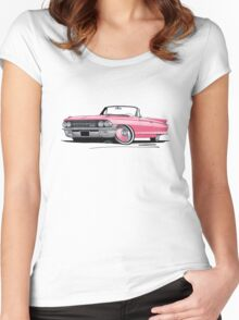 Cadillac Eldorado Biarritz (1962) Pink Women's Fitted Scoop T-Shirt
