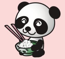 Panda Eating Rice Clip Art Kids Clothes
