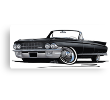Cadillac Eldorado Biarritz (1962) Black Canvas Print