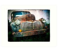 Old Rusty Chevy Truck Art Print