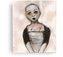 Stripped doll Canvas Print