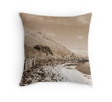 erosion protection in irelands cold winter Throw Pillow