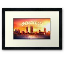 JACKSONVILLE SKYLINE ASH VS EVIL DEAD Framed Print