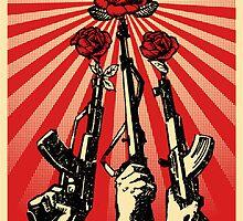 Flower in the Guns by xFranz