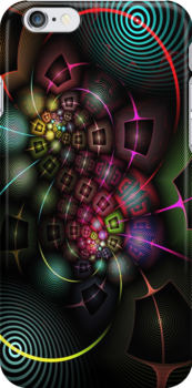 Psychedelic Experience - iphone - ipod case by Virginia N. Fred