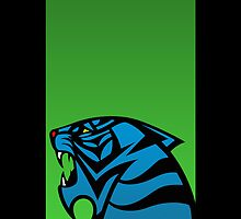 Tiger Emblem Green/Blue - (iPhone) by Adam Angold