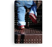 Ella's little kicks Canvas Print
