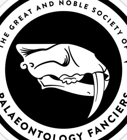 The Society of Palaeontology Fanciers (Black on Light) Sticker