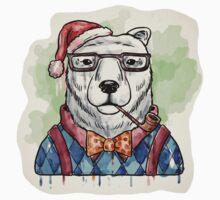 Dapper Christmas Bear Baby Tee