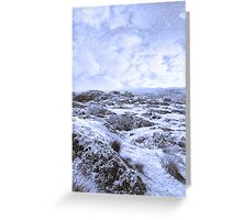 ruin in irish winter christmas landscape Greeting Card
