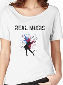 REAL MUSIC Women's Relaxed Fit T-Shirt