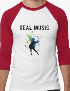REAL MUSIC Men's Baseball ¾ T-Shirt