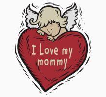 I Love My Mommy Baby Tee
