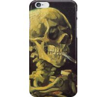 Van Gogh iPhone 5 Case - Skull with Burning Cigarette iPhone Case/Skin