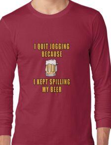 Beer Jogging Long Sleeve T-Shirt