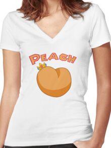princess peach Women's Fitted V-Neck T-Shirt