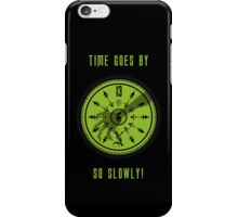 Time Goes By, So Slowly 13th Hour Clock iPhone Cover in Black by Topher Adam iPhone Case/Skin