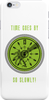 Time Goes By, So Slowly 13th Hour Clock iPhone Cover in White by Topher Adam by TopherAdam
