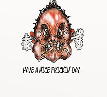 Have A Nice Frickin Day  Iphone Case  by david michael  schmidt
