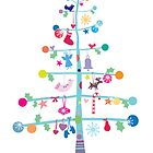 Christmas Tree with Decorations by Mel Skellon