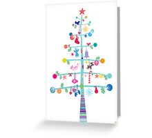 Christmas Tree with Decorations Greeting Card